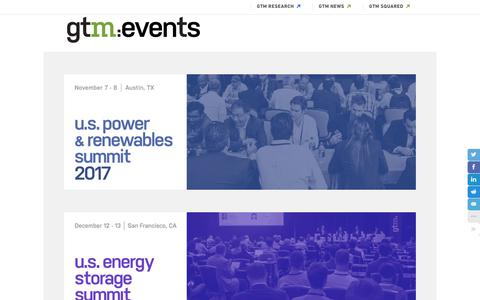 Events | Greentech Media