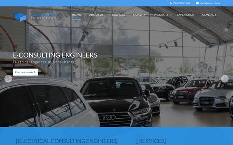 Screenshot of Home Page ece.com.au - Electrical Design and Engineering Consultant Perth - captured Oct. 9, 2018