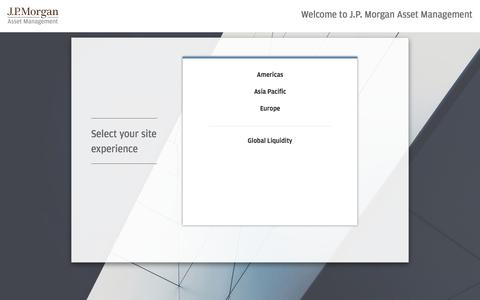 J.P. Morgan Asset Management - J.P. Morgan Asset Management
