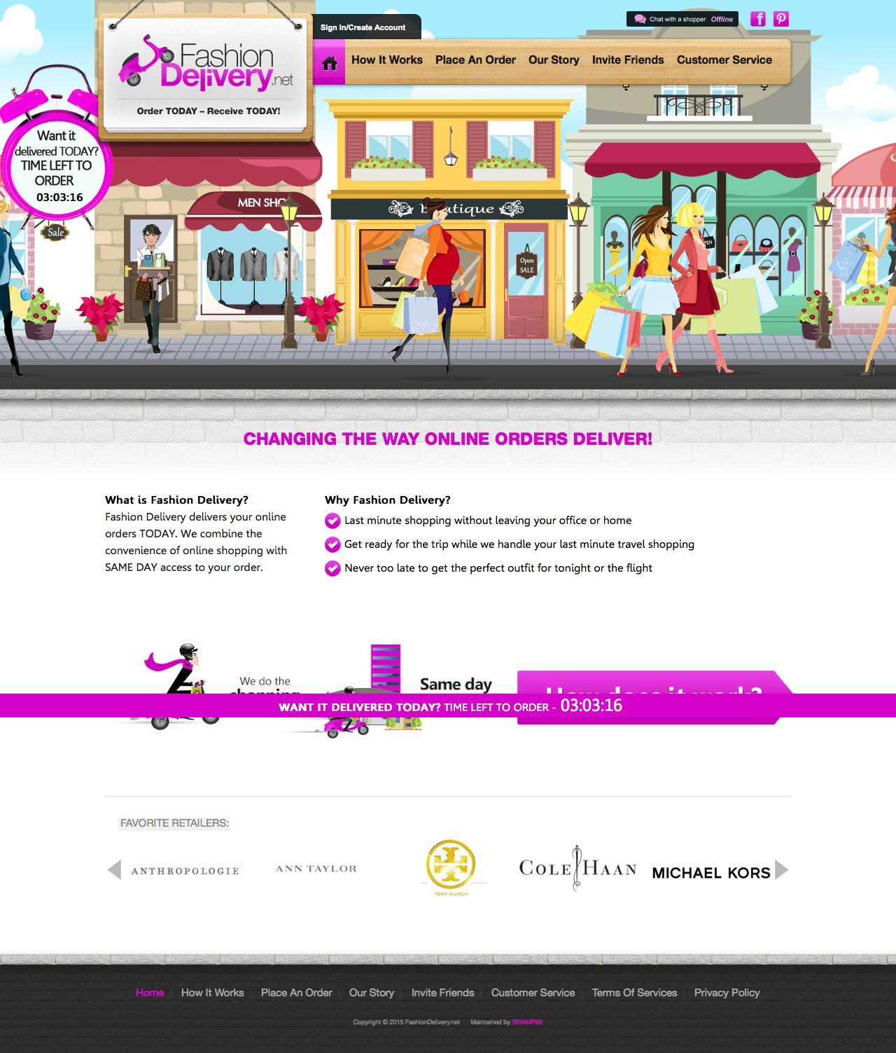 Screenshot of fashiondelivery.net - NJ Personal Shopper - Same Day Delivery Service  - FashionDelivery.net - captured July 27, 2015
