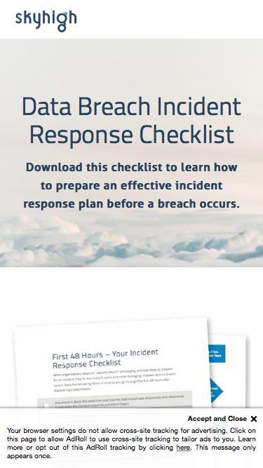 Data Breach Incident Response Checklist