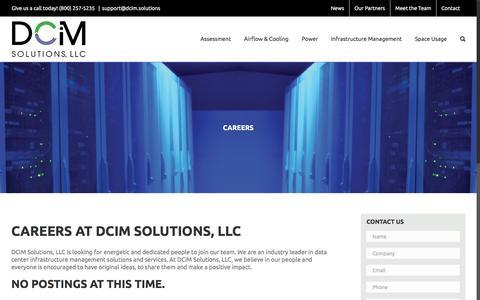Screenshot of Jobs Page dcim.solutions - Careers - DCiM Solutions, LLC - captured June 30, 2016