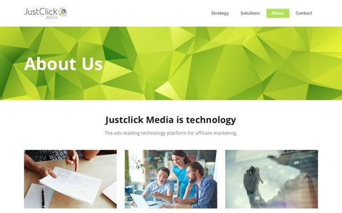 Screenshot of About Page justclick.media - About Us - JustClickMedia - captured May 1, 2017