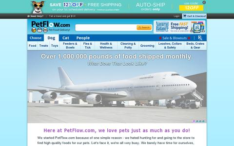 Screenshot of About Page petflow.com - PetFlow   About Us - captured July 18, 2014