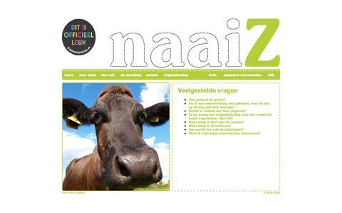 Screenshot of FAQ Page naaiz.nl - naaiZ - Veelgestelde vragen over de naailes kleding maken - captured Oct. 7, 2014