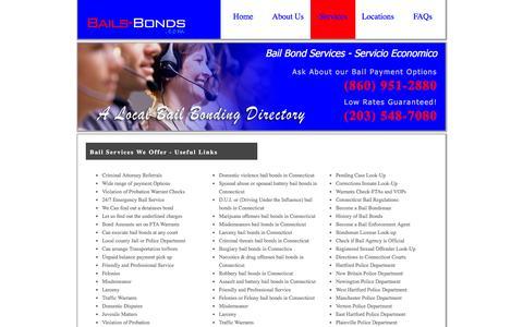 Screenshot of Services Page bails-bonds.com - Bail Service-Local Bond-Cheap Bondsman-Confidential Bail Men-Jail - captured April 14, 2016