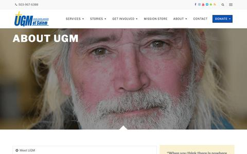 Screenshot of About Page ugmsalem.org - About UGM - Union Gospel Mission - captured Oct. 24, 2017