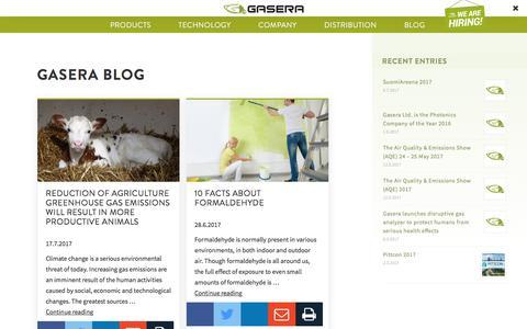 Screenshot of Blog gasera.fi - Blog Archives - Gasera - captured July 17, 2017