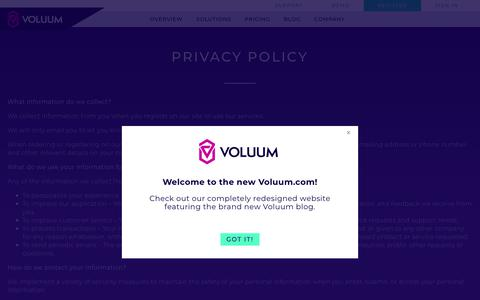 Voluum Privacy Policy