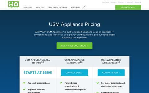 AlienVault USM Appliance Pricing