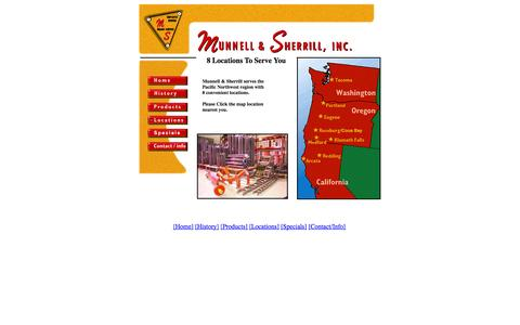 Screenshot of Locations Page munnell-sherrill.com - Munnell & Sherrill Locations - captured Oct. 9, 2014