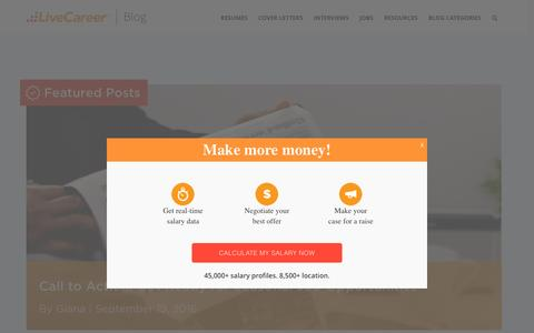 Screenshot of Blog livecareer.com - Blog Home | LiveCareer Blog - captured March 11, 2017
