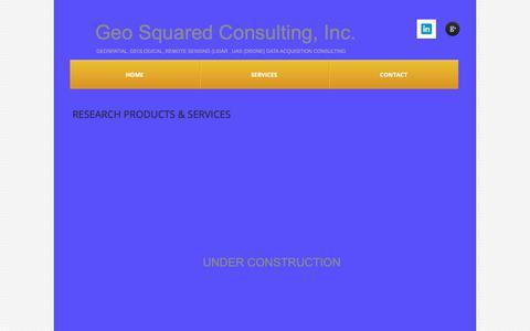 Screenshot of Services Page geosquared.com - Services - captured Nov. 10, 2018