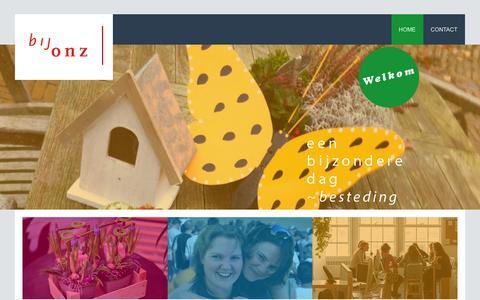 Screenshot of Home Page bijonz.nl - bijonz - captured Feb. 7, 2016