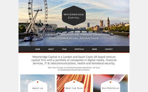 Screenshot of Home Page waterbridgecapital.com - Waterbridge Capital - captured Oct. 8, 2014