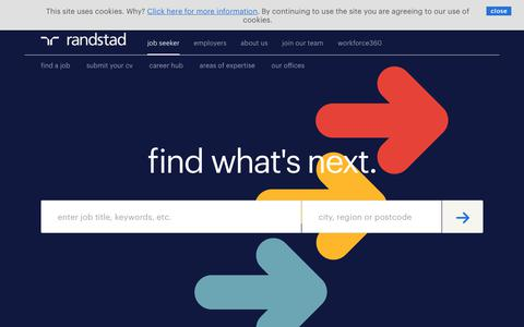 Screenshot of Home Page randstad.co.uk - Randstad Recruitment Agency | Jobs & Career Advice - captured Sept. 7, 2017