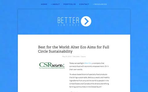 Screenshot of Press Page better.vc - Better Ventures | technology for good | press — Better Ventures - captured Sept. 19, 2014
