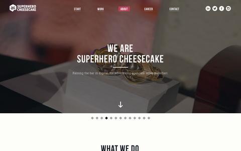 Screenshot of About Page superherocheesecake.com - About | Superhero Cheesecake - captured Feb. 23, 2016