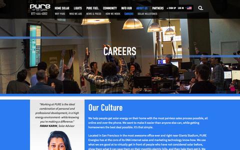 Screenshot of Jobs Page pureenergies.com - Careers - Pure Energies USA - captured Nov. 1, 2014