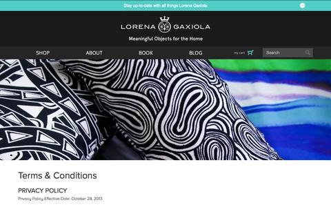 Screenshot of Terms Page lorenagaxiola.com - Terms & Conditions - Lorena Gaxiola Official Site - captured Oct. 28, 2014