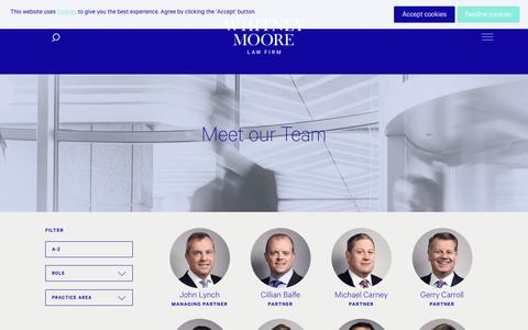 Screenshot of Team Page whitneymoore.ie - Our People – Whitney Moore - captured Oct. 18, 2018