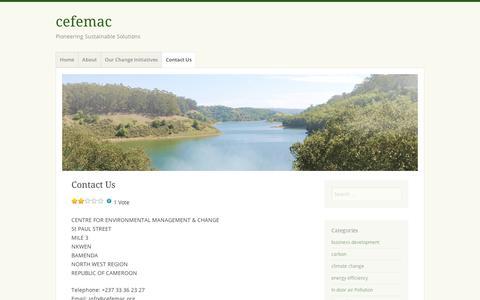 Screenshot of Contact Page wordpress.com - Contact Us   cefemac - captured Sept. 12, 2014