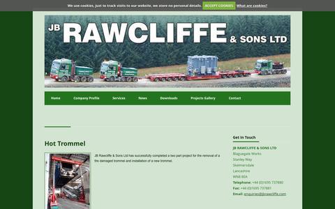 Screenshot of Press Page jbrawcliffe.com - In the News, Abnormal Load Engineering, JB Rawcliffe - captured Nov. 2, 2014