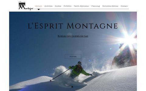 Screenshot of Home Page guide-espritmontagne.com - Guides l Esprit Montagne gap - captured Dec. 1, 2018