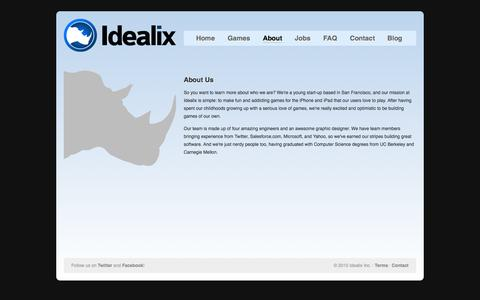 Screenshot of About Page idealix.com - Idealix Inc. - About - captured Oct. 6, 2014
