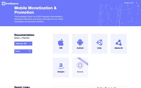 Mobile Monetization & Promotion - IronSource Knowledge Center