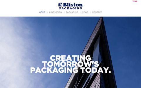 Screenshot of Home Page bliston.nl - Bliston Packaging - Innovatieve thermovormers sinds 1968 - captured July 4, 2017