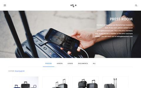 Screenshot of Press Page bluesmart.com - Pressroom | oooo - captured Aug. 8, 2017