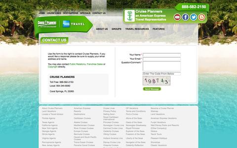 Screenshot of Contact Page indycruiseplanners.com - Contact Us - captured Sept. 30, 2014