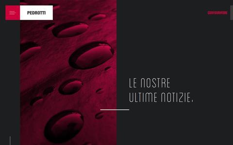 Screenshot of Press Page pedrotti.it - Pedrotti - Piastre ed Accessori per Stampi - captured Oct. 29, 2016