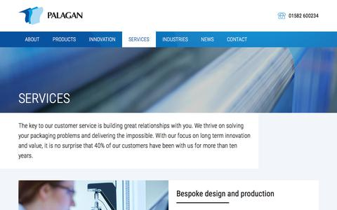 Screenshot of Services Page palagan.co.uk - Services - captured July 13, 2017