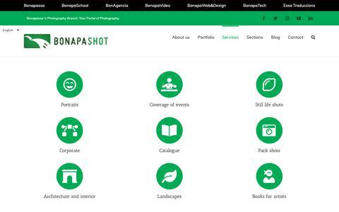 Screenshot of Services Page bonapassa.com - Services – Bonapassa Fotografia - captured Oct. 24, 2018