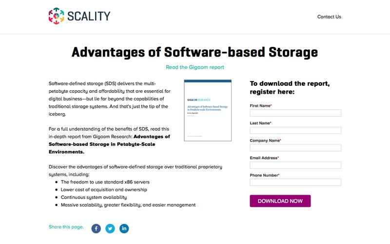 White Paper - Advantages of Software-based Storage in Petabyte-scale Environments