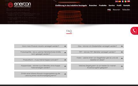 Screenshot of FAQ Page enercon-industries.de - FAQ - Induktionssiegelsysteme - Enercon Industries Ltd - captured Feb. 16, 2018