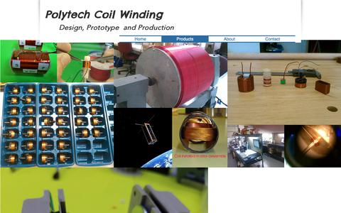 Screenshot of Products Page coilwinding.us - Custom Coil Winding Company Polytech | Products - captured Sept. 28, 2018
