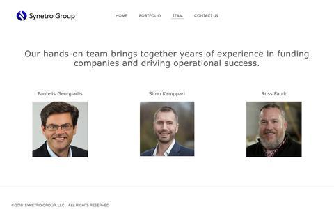 Screenshot of Team Page synetro.com - TEAM - Synetro - captured Oct. 19, 2018