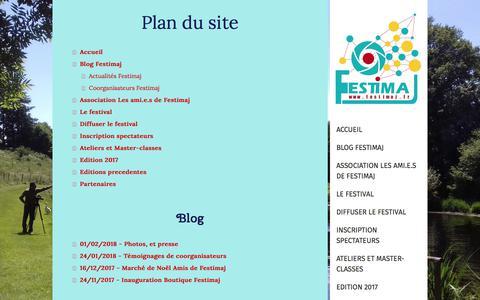 Screenshot of Site Map Page festimaj.fr - Plan du site - FESTIMAJ - captured Sept. 23, 2018