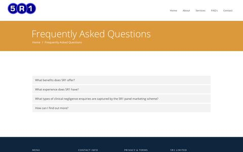 Screenshot of FAQ Page 5r1.co.uk - 5R1 Limited | Frequently Asked Questions - captured Oct. 19, 2018