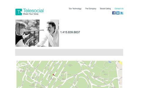 Screenshot of Contact Page telesocial.com - Contact   Telesocial - captured July 3, 2016