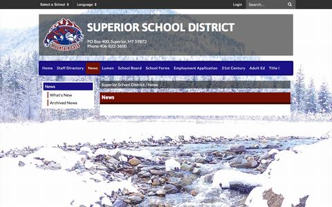 Screenshot of Press Page ssd3.us - News - Superior School District - captured March 13, 2017