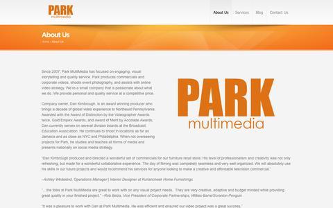 Screenshot of About Page parkmultimedia.com - About Us | Park MultiMedia - captured July 11, 2016