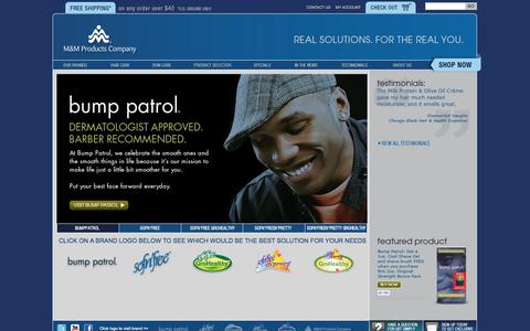 Screenshot of Home Page Site Map Page mmproducts.com - Natural Hair Products | Razor Burn | Mmproducts.com - captured Oct. 3, 2014