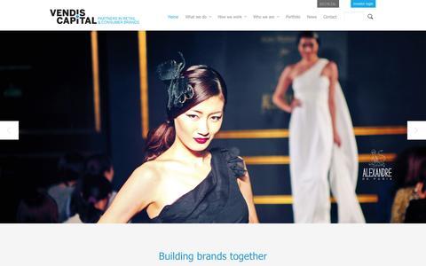 Screenshot of Home Page vendiscapital.com - Vendis Capital - captured Oct. 9, 2014