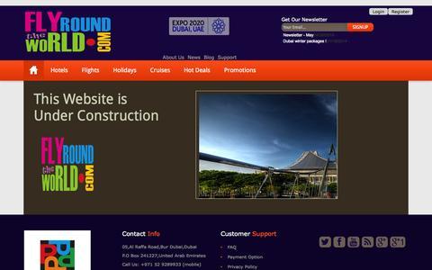 Screenshot of Support Page flyroundtheworld.com captured Sept. 30, 2014