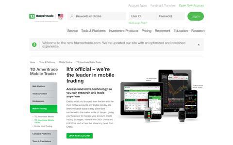 Mobile Trader   TD Ameritrade