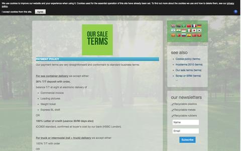 Screenshot of Terms Page hillgill.com - terms - HILLGILL - captured Nov. 1, 2014